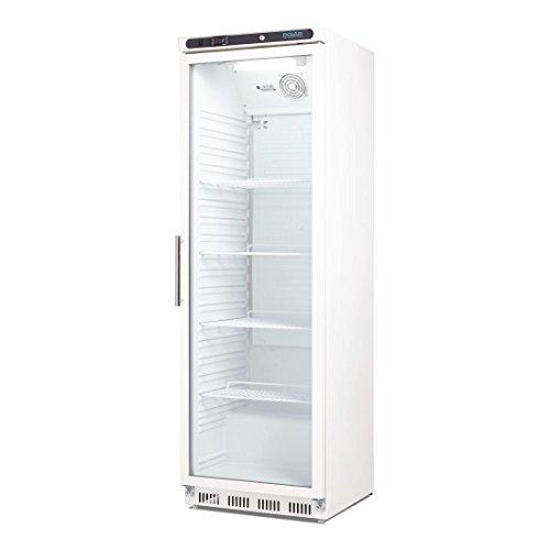 Flaschenkühlschrank, Getränkekühlschrank mit Rollen ideal für Dosen, Bierflaschen und PET Flaschen 400 Liter abschließbar mit Beleuchtung und elektronischer Steuerung, LED Temperaturanzeige - 4