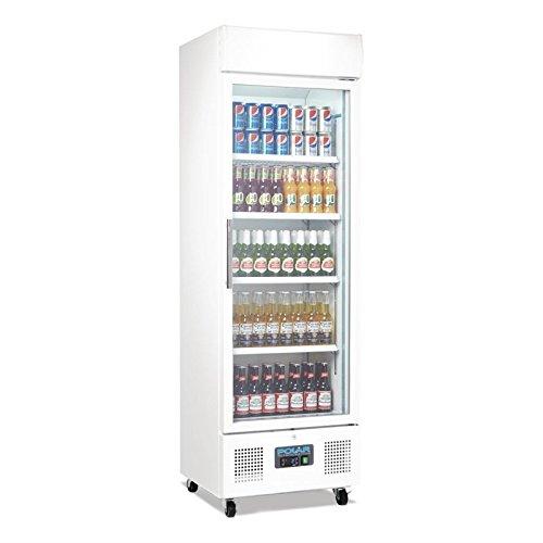 Getränkekühlschrank mit Rollen 330 Liter abschließbar mit Beleuchtung und LED Display