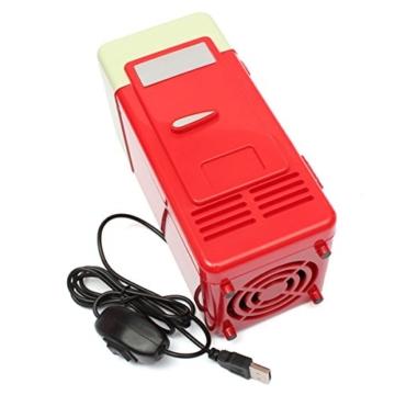 AUDEW USB Kühlschrank Auto Minikühlschrank Tragbare Kühlschrank Gefrierfach LED PC Getränkedosen Beverage Lebensmittel Cooler Warmer -