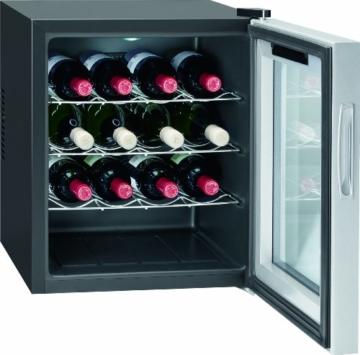 Bomann KSW 344 Weinkühlschrank Freistehend / A / 131 kWh/Jahr / 52.0 cm / 16 Flaschen / elektronische Temperatursteuerung und -einstellung / schwarz -