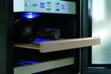 CASO WineDuett 21 Design Weinkühlschrank für bis zu 21 Flaschen (bis zu 310 mm Höhe), zwei Temperaturzonen 7-18°C -