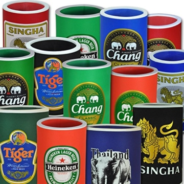 Flaschen-und Dosenkühler in verschiedenen Größen, Singha (bunte Mischung 5Stück) -