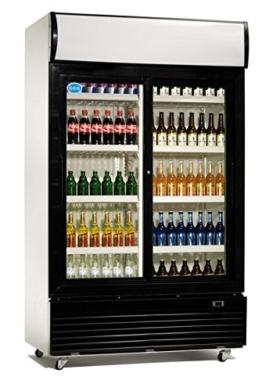Flaschenkühlschrank, 1200 x 730 x 2135 mm, 2 Schiebetüren, -