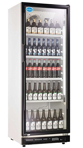 Flaschenkühlschrank mit Glastür 230 Liter Getränkekühlschrank Gewerbekühlschrank Gastrokühlschrank -