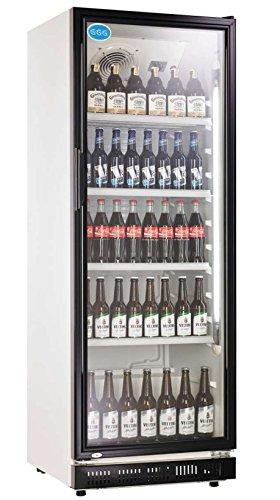 Flaschenkühlschrank mit Glastür 360 Liter Getränkekühlschrank Gewerbe Gastro -