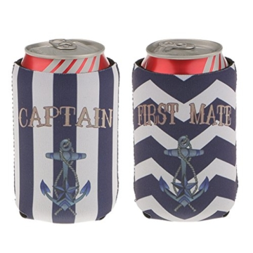 Gazechimp 2 Captain Dosenkühler Getränkekühler Neoprenkühler Flaschenkühler Halter -