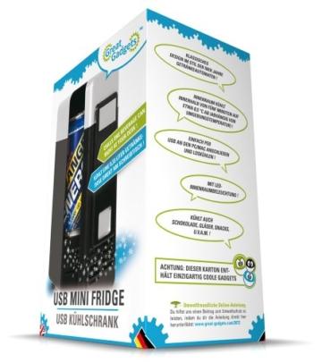GreatGadgets 3072-2 USB Minikühlschrank (Schwarz) -