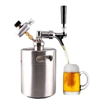 HAVEGET 2L Bierfass Mini Home Party Bar Versorgung Rot wein Brauen Flasche luftdruck Wasserhahn Kann Keine Co2 Flasche 304 edelstahl -