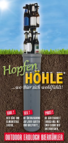 HopfenHöhle: Outdoor Erdloch Bierkühler, Bar-Gadget, Bier-Geschenk (Universal: 15x 0.5l / 0.33l Stups / 0.33l Langhals) -