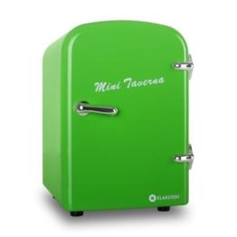 Klarstein Bella Taverna Mini Kühlschrank Getränkekühlschrank Warmhaltebox (4 Liter, Tragegriff, Netz- oder via 12 V-Betrieb, Regaleinschub) grün -