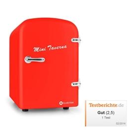 Klarstein Bella Taverna Mini Kühlschrank Getränkekühlschrank Warmhaltebox (4 Liter, Tragegriff, Netz- oder via 12 V-Betrieb, Regaleinschub) rot -