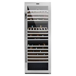 Klarstein Botella Trium Weinkühlschrank Getränkekühlschrank (617 Liter, 268 Flaschen, 3 Temperatur-Zonen, Touch-Bedienfeld, 14 Regaleinschübe, LED-Beleuchtung,) silber -