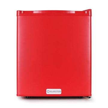 Klarstein FW-MKS-5 Minibar Kühlschrank kleiner 48 L Getränkekühlschrank (48 Liter, EEK C, 1 Regaleinschub) rot -
