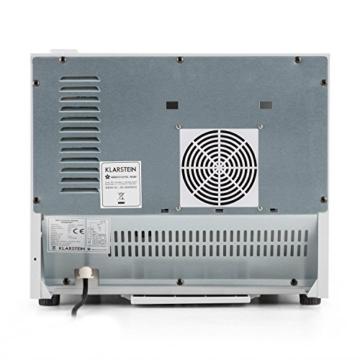 Klarstein Geheimversteck Mini Kühlschrank Getränkekühlschrank Minibar (17 Liter, leise 38 db, Regaleinschub, Türfach) weiß -