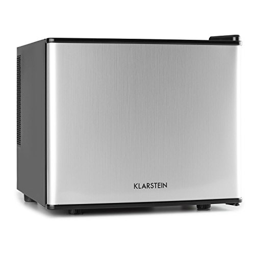 Klarstein Geheimversteck Mini Kühlschrank Getränkekühlschrank Minibar (17 Liter, leise 38 db, Regaleinschub, Türfach) silber -