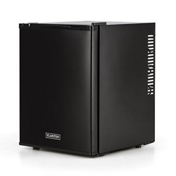 Klarstein Happy Hour Mini Kühlschrank Minibar Getränkekühlschrank (32 Liter, 5-stufig einstellbare Kühltemperatur, 2 Regaleinschübe, lautlos) schwarz -