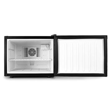 Klarstein Manhattan Mini Kühlschrank Minibar Getränkekühlschrank (35 Liter, 2-Fächer, 35 dB leise, 3-stufig regelbare Kühlintensität) schwarz -