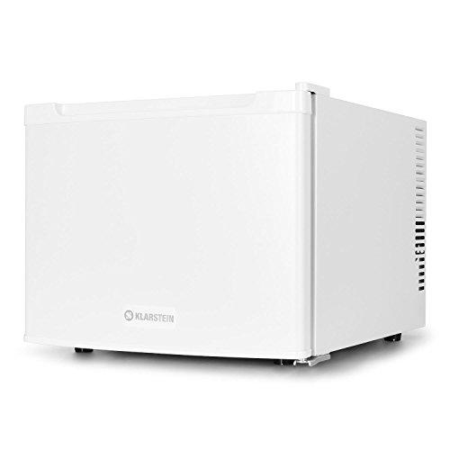 Klarstein Manhattan Mini Kühlschrank Minibar Getränkekühlschrank (35 Liter, 2-Fächer, 35 dB leise, 3-stufig regelbare Kühlintensität) weiß -