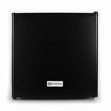 Klarstein Mini Kühlschrank Minibar Getränkekühlschrank (40 Liter Kühlfach, Eisfach, 39 dB leise, 49,5 cm hoch) schwarz -