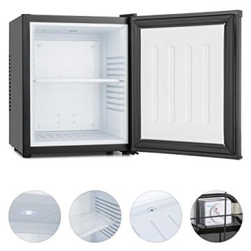 Klarstein MKS-10 Mini Kühlschrank Minibar Getränkekühlschrank (19 Liter Volumen, 0 dB, Innen-Beleuchtung) schwarz -