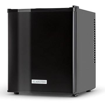 Klarstein MKS-11 Mini Kühlschrank Minibar Getränkekühlschrank (0 dB, 25 Liter Volumen, 1 Regal, 2 Seitenfächer, 47 cm hoch) mattschwarz -