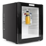 Klarstein MKS13 lautloser Kühlschrank Minikühlschrank Minibar mit Design Glasfront Getränkekühlschrank freistehend (0 dB, 36 Liter, kompakt) schwarz -