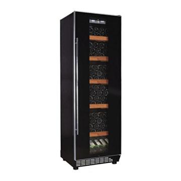 Klarstein Weinkühlschrank Weinkühler Getränke-Kühlschrank (freistehend, Glastür, 450 Liter, LED-Licht, Touch-Bedienung) schwarz -