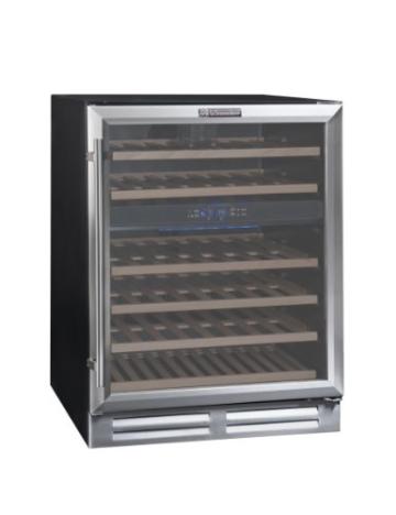 La Sommelière CVDE46-2 Weinkühlschrank / 83,0 cm Höhe / Multizonen Einbauweinklimaschrank mit Kompressor / Digital-Anzeige der Temperatur / edelstahl und schwarz -