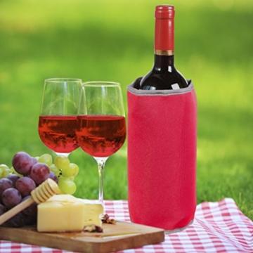 Levivo Kühlmanschette CD01 – Neopren Flaschenkühler mit 8 Gelkammern und Klettverschluss ca. 36 x 21 cm -