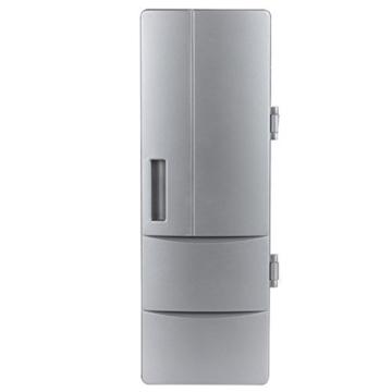 Mini Kühlschrank USB PC Kühlung Getränk Größe: 24,5x 10,8x 8,3cm silber -