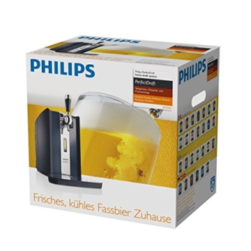 Philips HD3620/25 Perfect Draft Bierzapfanlage (Metallfässer 6 Liter) schwarz -