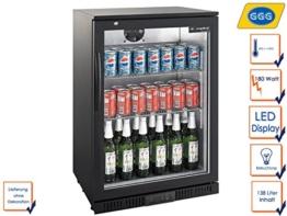 Profi Flaschenkühlschrank, 138 Liter, 0° C/ +10° C, Umluftkühlung, abschließbar, GGG LG-138 -