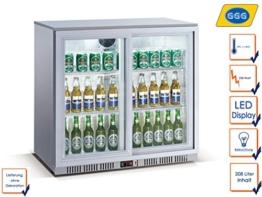 Profi Flaschenkühlschrank, 208 Liter, 0° C/ +10° C, Umluftkühlung, abschließbar, GGG LG-208S -