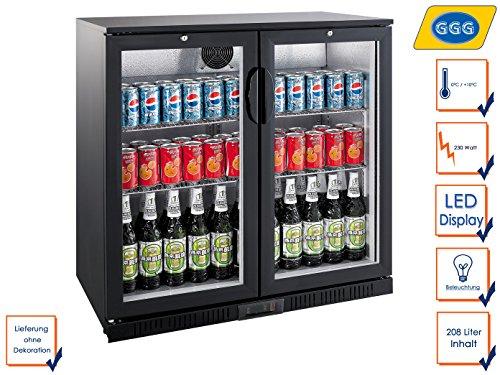 Profi Flaschenkühlschrank, 208 Liter, 0° C/ +10° C, Umluftkühlung, abschließbar, GGG LG-208H -