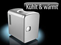 Rosenstein & Söhne Mobiler Mini-Kühlschrank mit Wärmefunktion, 4 Liter, 12 & 230 V -