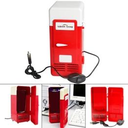 Sidiou Group Handliche Mini-USB-Kühlschrank Cooler Gadget Beverage Getränkedosen Kühler / Wärmer Kühlschrank rot -