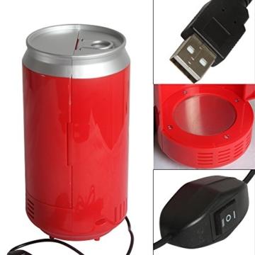 Sidiou Group Portable USB-PC Mini-Kühlschrank Kühlschrank kühles Getränk Getränkedosen Kühler & wärmer PC Gadgets Red -