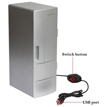 Sidiou Group USB kleiner Kühlschrank Medium Kühlschrank USB-Mini-Kühlschrank mit Gefrierfach Getränke Kühlung und Heizung Dual-Zweck tragbare Kühlschrank -
