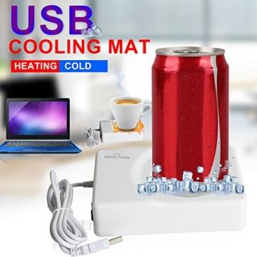 Sidiou Group Wärmer USB-Untersetzer Vakuum-Schalen-Auflage USB-Mini-Kühlschrank Kühlung heißer und kalter Dual-Use-Untersetzer Computer gewidmet Temperatur Heizung USB-Tassenwärmer -