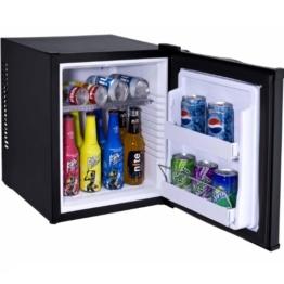 Syntrox Germany 28 Liter Null DB-lautloser Mini Kühlschrank geräuchloser Hotelkühlschrank -