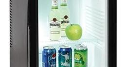Syntrox Germany 40 Liter Null DB-Lautloser Mini Kühlschrank Geräuchloser Hotelkühlschrank -