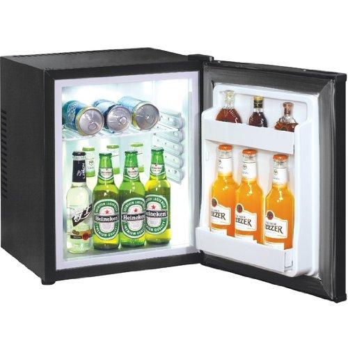 Syntrox Germany 40 Liter Null DB-lautloser Mini Kühlschrank mit Schloss geräuchloser Hotelkühlschrank -