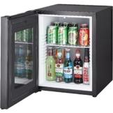 Syntrox Germany 52 Liter Null DB-lautloser Mini Kühlschrank mit Glastür geräuchloser Hotelkühlschrank -