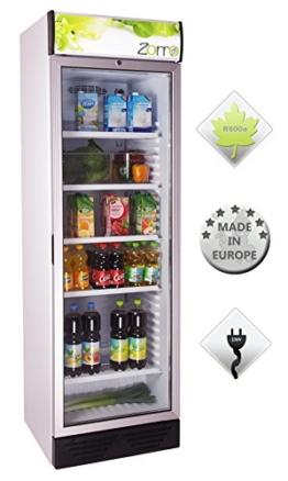 Zorro - Flaschenkühlschrank 390 ZCH - Glastüre - Reklametafel beleuchtet - Getränkekühlschrank 390 Liter -