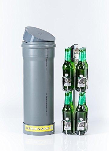 BIERSAFE: Der kleine Bruder. Kühler für 8x Bierflasche. Erd-Kühlrohr ohne Strom - cooles Bier-Geschenk! -