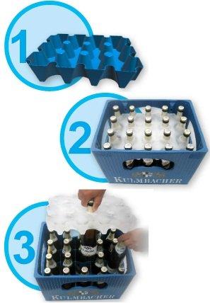 3 (Stück) x sl-EISBLOCK 0,5 Liter # Made in Germany # bis der Grill heiß ist - sind die Biere kühl # Bierkühler # Bierkastenkühler # Bier Kühler für Kiste Kasten # Bierkiste Bierkasten Bierkisten (blau) -