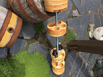 Gerstengrotte 100cm/12Flaschen Bar Bierloch Bar Gadget Hopfen Höhenverstellbar Massiv -