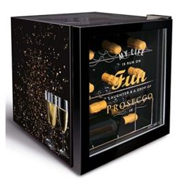 Husky Minikühlschrank Kühlbox Minibar Kühlschrank EEK A+ 45,8 L KK50-PROSECCO -