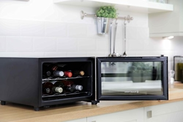 Russell Hobbs RH8WC1, Minikühlschrank, 8 Flaschen, Flaschenkühlschrank, schwarz -