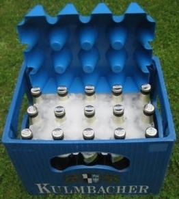 Sl-Eisblock Bierkühler Getränkekühler 0,5 Liter Flaschen Bierkastenkühler Made in Germany -